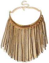 INC International Concepts M. Haskell for Gold-Tone Stone and Fringe Choker Necklace, Only at Macy's