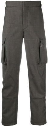 Givenchy Check Cargo-Style Tailored Trousers