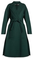 Rochas Double-faced waist-tie wool coat