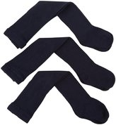 Jefferies Socks 3 Pack Seamless Tights (Baby) - White-18-24