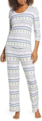 BP Girlfriend Long Sleeve Top & Pants Pajama 2-Piece Set