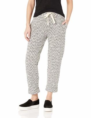 Three Dots Women's ZK6194 SLUB Stripe Mini Zebra Knit Pant
