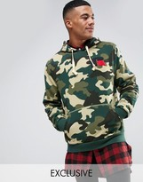 Russell Athletic Camo Hoodie With Chenille Logo