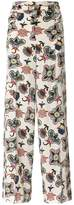 Valentino Popflowers high waist palazzo pants