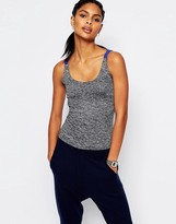 South Beach Gray Cut Out Back Top