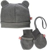 Zutano Cozie Fleece Hat & Mitten Set (Baby) - Gray - 12 Months
