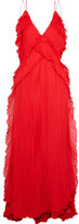 Michael Lo Sordo - Astrid Pleated Silk-chiffon Gown - Red