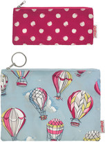 Cath Kidston Set of Two Hot Air Balloons Poly Pouches