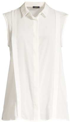 Peserico Sleeveless Silk Blouse