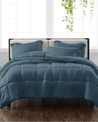 Cannon Solid Dark Blue 3Pc Comforter Set