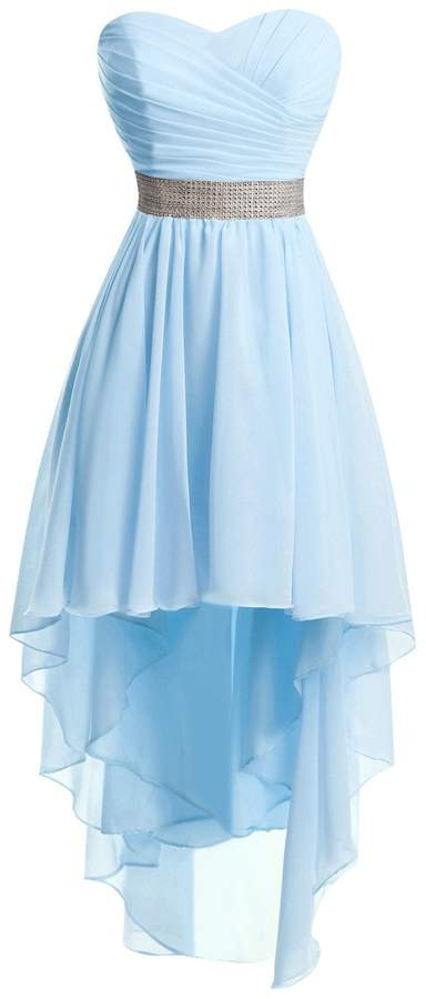 Bess Bridal Women's Lace Up High Low Chiffon Prom Party Homecoming Dresses US