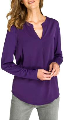 Olsen Cozy Mood Hanna Split Neck Long-Sleeve Top