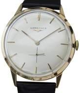 Longines 18K Rose Gold / Leather Vintage 34mm Mens Watch