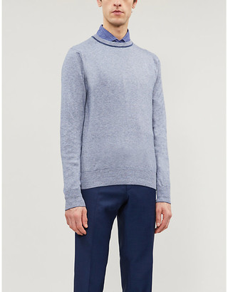 Canali Striped cotton-knit jumper