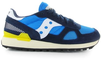 Saucony Shadow Vintage Navy Blue Yellow Sneaker