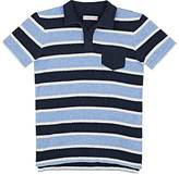 Orlebar Brown STRIPED COTTON TERRY POLO SHIRT