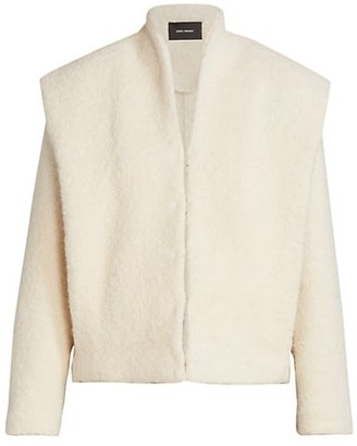 Isabel Marant Galadriel Alpaca & Wool-Blend Faux-Fur Jacket