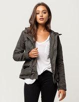 Full Tilt Quilted Womens Anorak Jacket