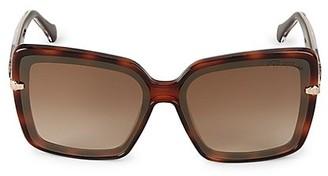 Roberto Cavalli Injected 62MM Oversized Square Sunglasses