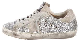 Golden Goose Distressed Glitter Sneakers