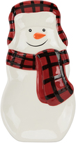 Boston Warehouse Buffalo Plaid Snowman Spoon Rest