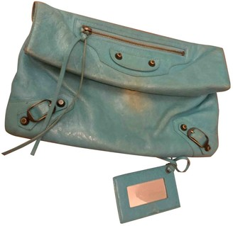 Balenciaga First Turquoise Leather Clutch bags