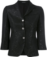 Tagliatore cropped fitted jacket - women - Cotton/Acrylic/Polyester/Viscose - 42