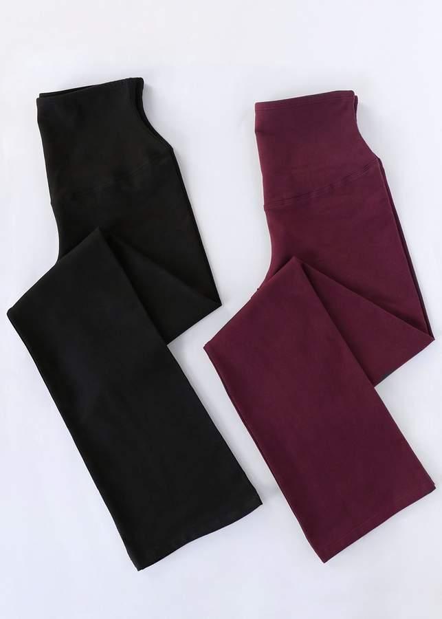 2-Pack Jodi Slim Bootcut Cotton Stretch Shaping Legging