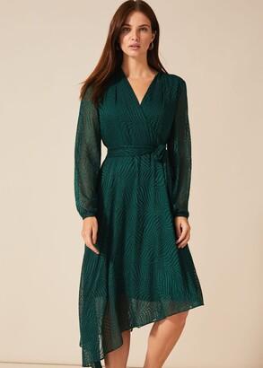 Phase Eight Jenifer Clipped Jacquard Dress