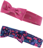 Accessorize 2x Jersey Butterfly Print Bandos