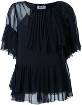 Muveil layered frill blouse