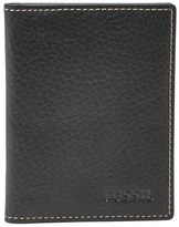 Fossil Men's 'Lincoln' Leather Bifold Card Case - Black