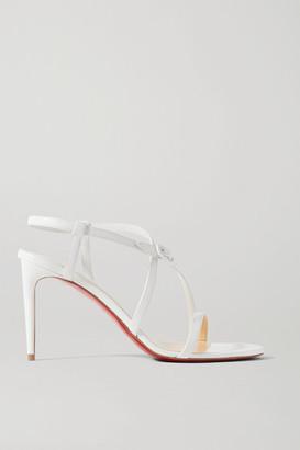 Christian Louboutin Selima 85 Leather Sandals - White