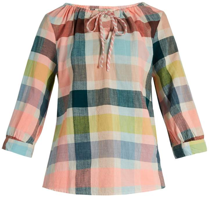 Ace&Jig Rosa checked-cotton top