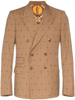 Gucci GG stripe double-breasted blazer