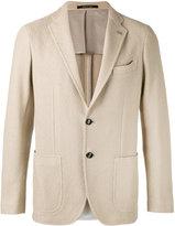 Tagliatore textured blazer - men - Cotton/Cupro - 46