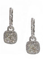 Effy Bouquet Diamond and 14K White Gold Drop Earrings, 1.21TCW