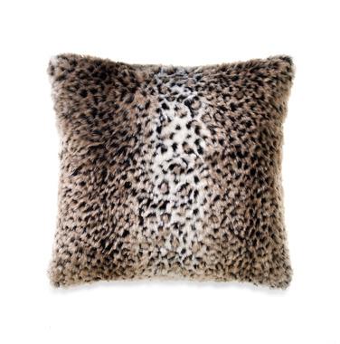 Bed Bath & Beyond Persian Leopard Faux-Fur Square Toss Pillow