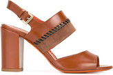 Santoni buckled sandals - women - Calf Leather/Leather - 36