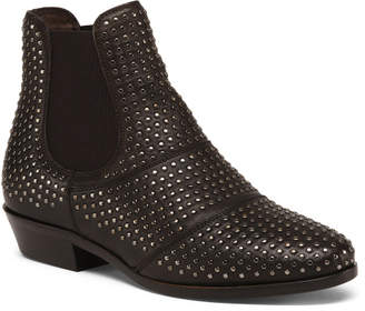 Made In Italy Leather Beatles Stud Booties