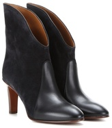 Chloé Kole Suede And Leather Ankle Boots