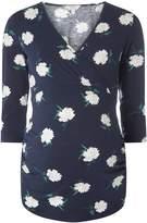 Dorothy Perkins **Maternity Navy Floral Print Wrap Top