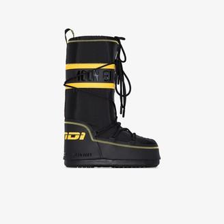 Fendi X Moon Boot black snow boots