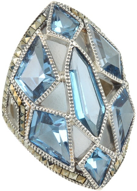 Judith Jack 60211407 Color Cascade Ring (Blue) - Jewelry