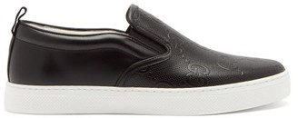 Gucci Dublin Gg Perforated-leather Slip-on Trainers - Black