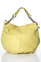 Bodhi Yellow Leather Silver Tone Detail Medium Sized Shoulder Handbag