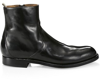 Officine Creative Tempus Leather Ankle Boots