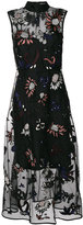 Markus Lupfer arctic flower embroidered dress