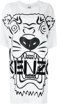Kenzo Tiger T-shirt dress - women - Polyester/Triacetate - M