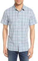 Grayers Men's Sutton Trim Fit Plaid Sport Shirt